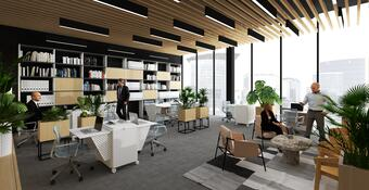 Flexible office design in response to a flexible way of working